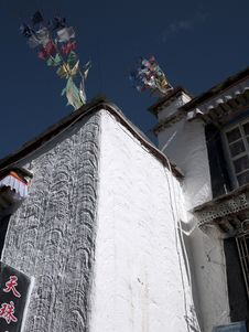 Free Wall Of Tibetan House Stock Images - 21176614