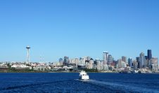 Free Seattle Downtown Viewed From Elliott Bay Stock Images - 21176714