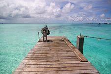 Free Small Pier Of Tropical Sea, Maldives Stock Photos - 21176993