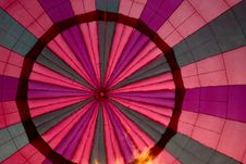 Hot Air Balloon Canopy With Flames Stock Photography