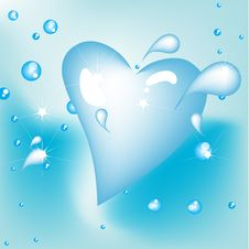 Free Heart Shape Drop Of Water Stock Photo - 21177760
