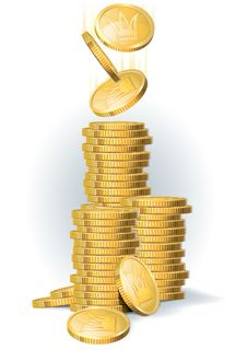 Free Coins_2 Royalty Free Stock Images - 21177949