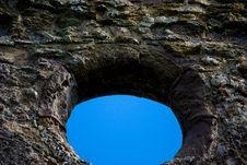 Free Blue Sky Through Old Window Stock Photos - 21178413
