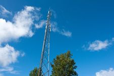Free Telecommunication Communication Antenna Tower Mast Royalty Free Stock Photography - 21178587