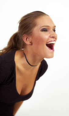 Free Beauty Young Woman Scream Stock Photo - 21178740