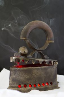 Free Iron With Ember And Smoke Royalty Free Stock Image - 21179046