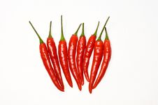 Free Chili Peppers Royalty Free Stock Photos - 21179388