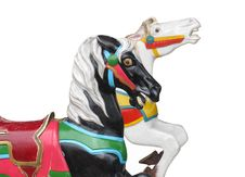 Free Two Horse Heads From A Carrousel Royalty Free Stock Images - 21179419