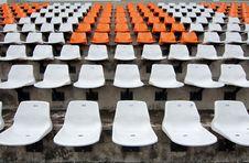 Free Front Of The Orange Seats On The Stadium Stock Photos - 21179423