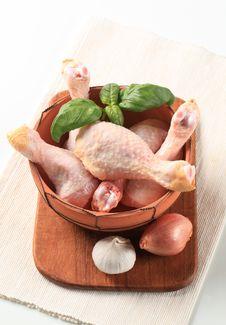 Raw Chicken Drumsticks Stock Photo