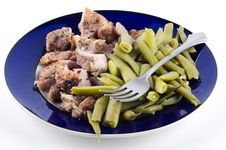 Free Steak With Green Beans Royalty Free Stock Image - 21179626
