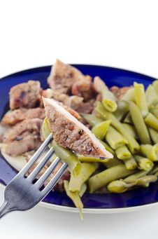 Free Steak With Green Beans Stock Photo - 21179670