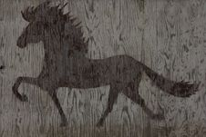 Free Wooden Horse Texture Stock Photography - 21179912