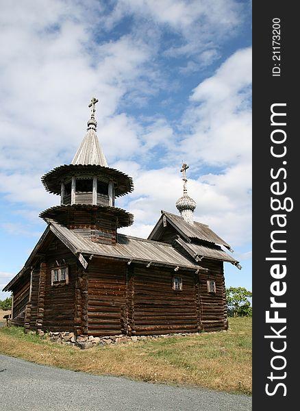 Old wooden church on Kizhi island