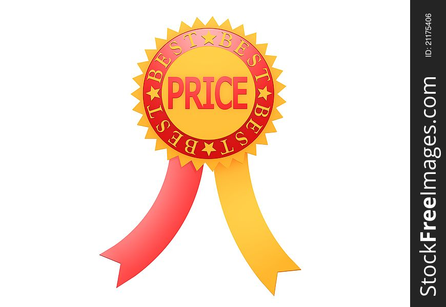 Best price red yellow label