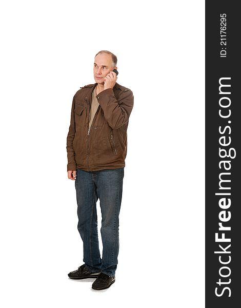 Man s speaking by phone
