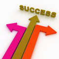 Free Arrows In Three Directions With Success Royalty Free Stock Image - 21188876