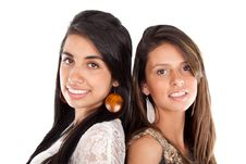 Free Two Beautiful Young Women Royalty Free Stock Image - 21180636