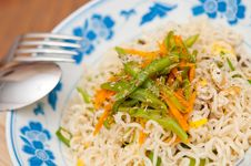 Free Macro Of Simple Noodle Dish Stock Photos - 21181463