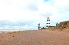 Free West Point Lighthouse In PEI Royalty Free Stock Photo - 21181805