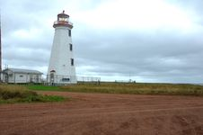Free North Cape Lighthouse In PEI Royalty Free Stock Photography - 21181807