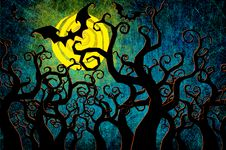 Free Grunge Textured Halloween Night Background Royalty Free Stock Photos - 21181878