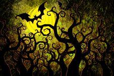 Free Grunge Textured Halloween Night Background Stock Image - 21182021