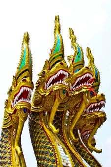 Four Heads Nagas Stock Image