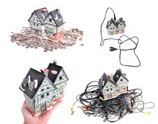 Free Cheap Electrified House Royalty Free Stock Photos - 21182298