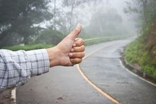 Free Hand Of Hiker Man At Rural Royalty Free Stock Images - 21182859