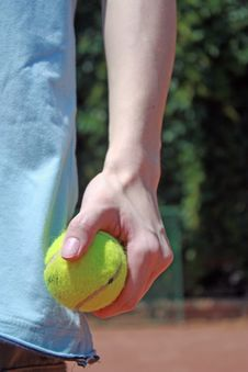 Free Detail Of Tennis Player Royalty Free Stock Photos - 21183558