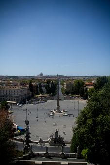 Free View Over Rome From The Piazza Del Popolo, Italy Royalty Free Stock Photography - 21184117