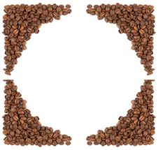 Free Coffee Beans Frame Royalty Free Stock Photography - 21184277