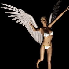 Free Angel 166 Royalty Free Stock Image - 21185086