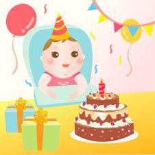 Free Baby Birthday Celebration Stock Image - 21185271