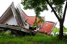 Ruins Of The Thai House. Royalty Free Stock Images