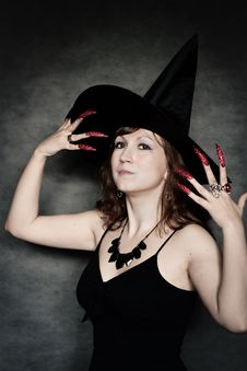 Free Witch With Long Red Nails Stock Photos - 21185413