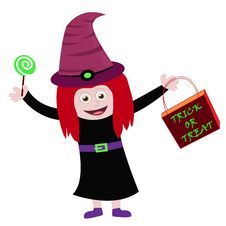 Free Little Halloween Witch Stock Image - 21185801