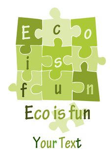 Free Eco Is Fun - Green Puzzle - Royalty Free Stock Photo - 21185945
