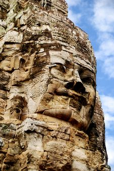 Angkor Wat - Bayon Temple Royalty Free Stock Photos