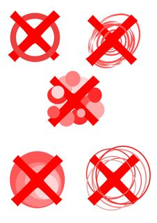 Free Rejected Symbols - Stock Image - 21185961