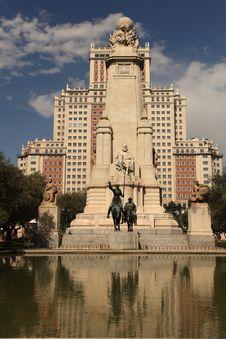 Cervantes Monument Stock Photos