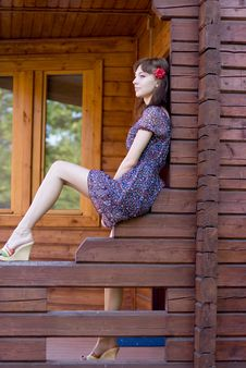 Free Girl Walking In Country Side Royalty Free Stock Photography - 21186737