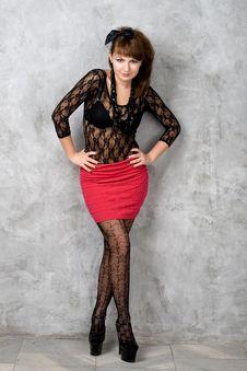 Free Seductive Gothic Girl Royalty Free Stock Photo - 21187205