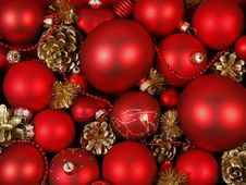 Free Red Baubles Stock Images - 21187364