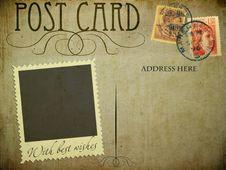 Free Vintage Postcard Stock Photo - 21187760