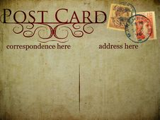 Free Vintage Postcard Royalty Free Stock Photos - 21187838