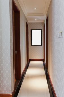 Free White  Corridor Stock Photo - 21187900