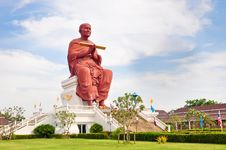Free Sculpture Monk Somdej Toh Buddha Thailand Stock Photos - 21187963