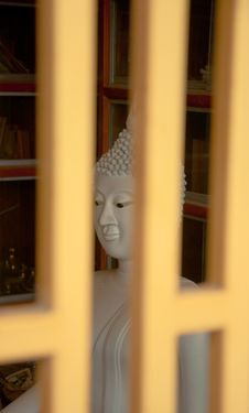 Free White Stone Buddha Stock Photos - 21188623